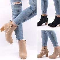 Boots Stylés à la Mode à Talons Hauts