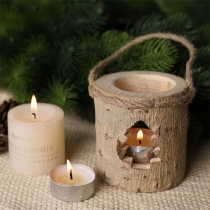 Creative Style Hollow Out Wooded Candlestick