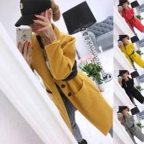 Manteau/Veste Stylée Elégante à la Mode à Simple-Boutonnage à Manches Longues