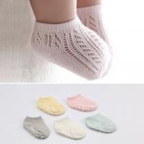 Chaussettes de 2-Paires Douces Stylées Mignonnes à la Mode Ajourées en Coton Pour les Bébés