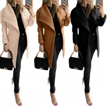 Manteau/Veste Stylée à la Mode à Revers à Manches Longues avec une Ceinture(Taille Petite)