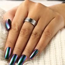 Retro Style Silver-tone Open Ring