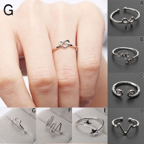 Fashion SIlver-tone Alloy Open Ring