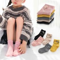Chaussettes de 5 Paires Douces Mignonnes à la Mode à Imprimés Pour les Enfants