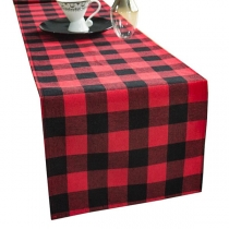 Fashion Contrast Color Plaid Table Flag