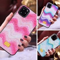 Fashion Color Gradient Rhinestone Inlaid Phone Case for iPhone
