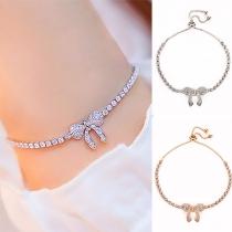 Bracelet Doux Chic à la Mode avec un Design de Nœud Papillon