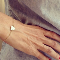 Bracelet Doux à la Mode Simple avec un Pendentif de Cœur