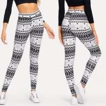 Fashion High Waist Stretch Printed Leggings
