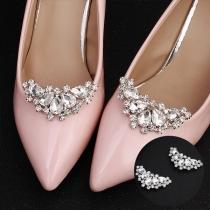 Fashion Rhinestone Inlaid Shoe Accessories