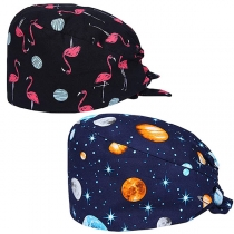 Hip-hop Style Lace-up Knotted Printed Cap