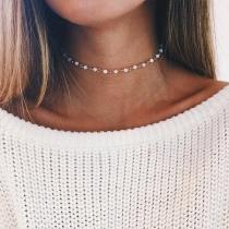 Collier de Perles Synthétiques de Mode