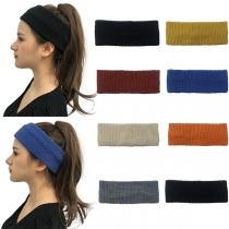 Fashion Solid Color Knit Headband