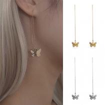 Boucles d'oreilles Pompon Pendentif Papillon Style Doux
