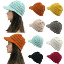 Fashion Solid Color Knit Cap