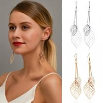 Boucles d'oreilles Pendantes à Feuilles 'Evidées de Style Frais