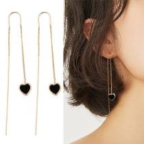 Pendentif(Oreille-Ligne )avec Pendentif Coeur Mode