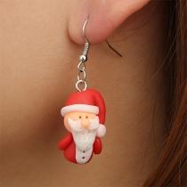 Boucles d'oreilles en Forme de Père Noël de Style Mignon