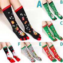 Chaussettes Imprimées de Noël de Style Mignon