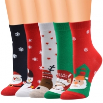Cute Style Cartoon Christmas Printed Socks