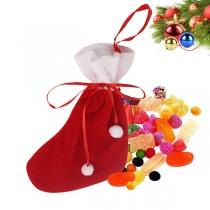 Fashion Contrast Color Christmas Sock