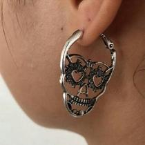 Boucles d'oreilles en Forme de Tête de Mort de Style Rétro
