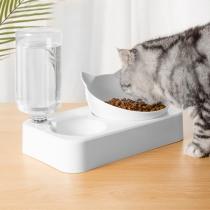 Distributeur d'eau Automatique pour les animaux de Double Bol de Style Créatif