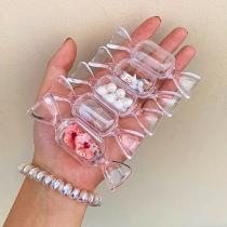 Boîte de Rangement-5 / ensemble Accessoires Transparent En forme de Bonbon de Style Créatif