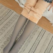 Legging Doublé en Peluche Taille Haute