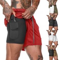 Shorts de Sport pour Hommes à la Taille Élastique