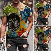 T-shirt pour Homme de Style Décontracté à Manches Courtes et Col Rond