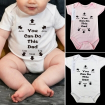 Body Bébé à Imprimé à Manches Courtes et Col Rond de Style Décontracté