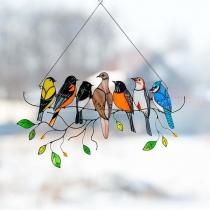 Art d'oiseau avec des Ornements Suspendus de Suncatchers pour la Décoration de la Maison de Porte de Fenêtre