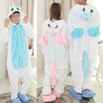 Cute Cartoon Unicorn Shaped Jumpsuit Pajamas Sleepwear