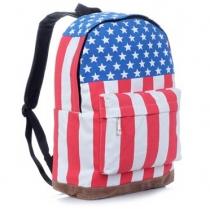 Vintage USA Flag Punk BackPack Shoulder Bag School Bag